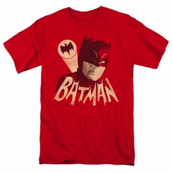 Batman Classic 1966 t-shirt Bat Signal mens red