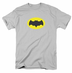 Batman Classic 1966 t-shirt Chest Logo mens silver
