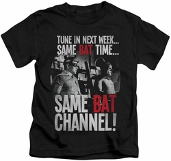 Batman Classic 1966 TV kids t-shirt Bat Channel black