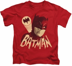 Batman Classic 1966 TV kids t-shirt Bat Signal red