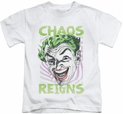 Batman Classic 1966 TV kids t-shirt Chaos Reigns white