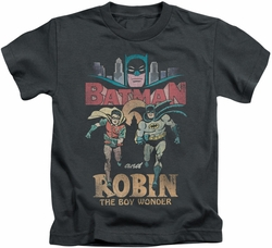 Batman Classic 1966 TV kids t-shirt Classic Duo charcoal