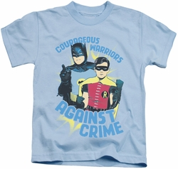 Batman Classic 1966 TV kids t-shirt Courageous Warriors light blue