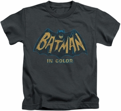 Batman Classic 1966 TV kids t-shirt In Color charcoal