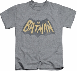 Batman Classic 1966 TV kids t-shirt Show Logo heather