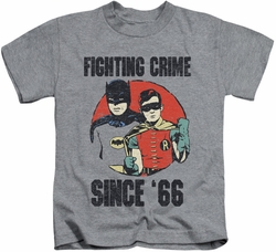 Batman Classic 1966 TV kids t-shirt Since 66 athletic heather