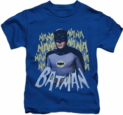 Batman Classic 1966 TV kids t-shirt Theme Song royal