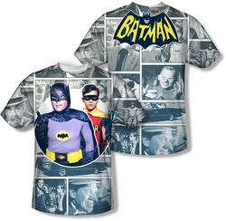 Batman Classic 1966 TV mens full sublimation t-shirt 60s Panels