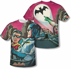 Batman Classic 1966 TV mens full sublimation t-shirt Bat Signal