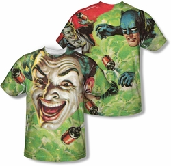 Batman Classic 1966 TV mens full sublimation t-shirt Laugh Gas