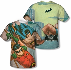 Batman Classic 1966 TV mens full sublimation t-shirt Nightly Patrol