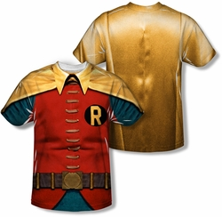 Batman Classic 1966 TV mens full sublimation t-shirt Robin Costume