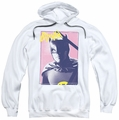 Batman Classic 1966 TV pull-over hoodie Bruce Wayne 80's adult white