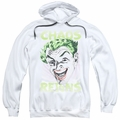 Batman Classic 1966 TV pull-over hoodie Joker Chaos Reigns adult white