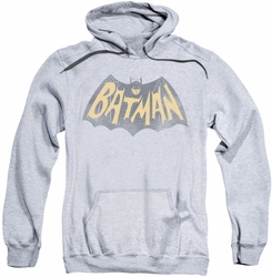 Batman Classic 1966 TV pull-over hoodie Show Logo adult athletic heather