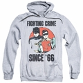 Batman Classic 1966 TV pull-over hoodie Since 66 adult athletic heather