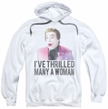 Batman Classic 1966 TV pull-over hoodie Thrilled adult white