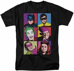 Batman Classic 1966 TV t-shirt Pop Cast mens black