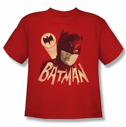 Batman Classic 1966 TV youth teen t-shirt Bat Signal red