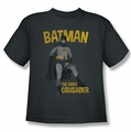 Batman Classic 1966 TV youth teen t-shirt Caped Crusader charcoal