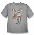 Batman Classic 1966 TV youth teen t-shirt Classified athletic heather