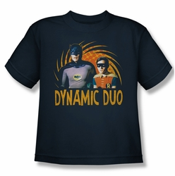 Batman Classic 1966 TV youth teen t-shirt Dynamic navy