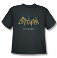 Batman Classic 1966 TV youth teen t-shirt In Color charcoal