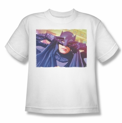 Batman Classic 1966 TV youth teen t-shirt Smooth Groove white