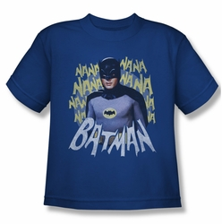 Batman Classic 1966 TV youth teen t-shirt Theme Song royal