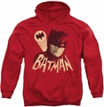 Batman Classic TV 1966 pull-over hoodie Bat Signal adult red