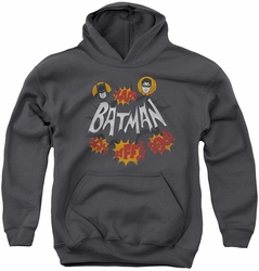 Batman Classic TV 1977 youth teen hoodie Sound Effects charcoal