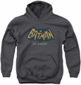Batman Classic TV 1978 youth teen hoodie In Color charcoal