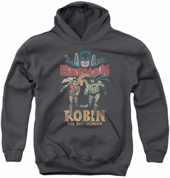 Batman Classic TV 1982 youth teen hoodie Classic Duo charcoal