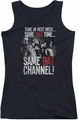 Batman Classic TV juniors tank top Bat Channel black