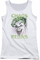 Batman Classic TV juniors tank top Chaos Reigns white