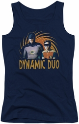 Batman Classic TV juniors tank top Dynamic navy