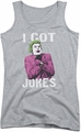 Batman Classic TV juniors tank top Got Jokes athletic heather