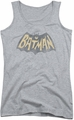 Batman Classic TV juniors tank top Show Logo athletic heather