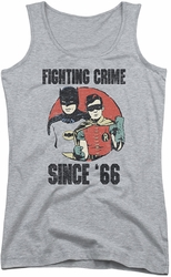 Batman Classic TV juniors tank top Since 66 athletic heather
