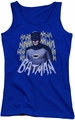Batman Classic TV juniors tank top Theme Song royal blue