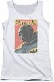Batman Classic TV juniors tank top Vintman white