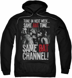 Batman Classic TV pull-over hoodie Bat Channel adult black