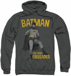 Batman Classic TV pull-over hoodie Caped Crusader adult charcoal