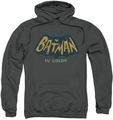 Batman Classic TV pull-over hoodie In Color adult charcoal