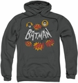 Batman Classic TV pull-over hoodie Sound Effects adult charcoal