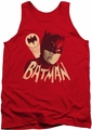 Batman Classic TV tank top Bat Signal adult red