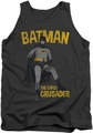 Batman Classic TV tank top Caped Crusader adult charcoal