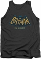 Batman Classic TV tank top In Color adult charcoal