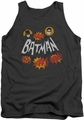 Batman Classic TV tank top Sound Effects adult charcoal