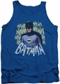 Batman Classic TV tank top Theme Song adult royal blue